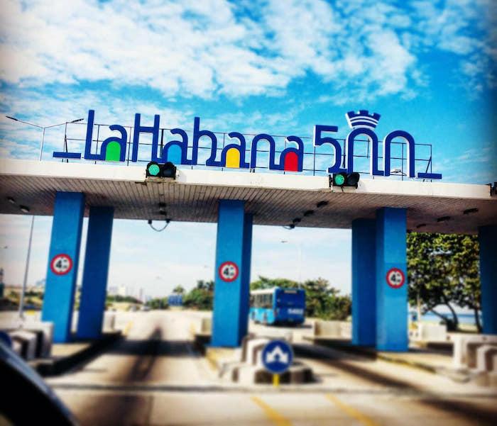 Diseño para la campaña Habana 500. Gráfica de apoyo.