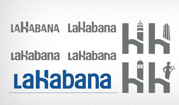 """Bocetos para el logotipo """"Habana, real y maravillosa"""". Alternativa 1."""