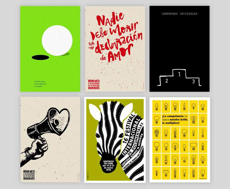 Carteles cubanos seleccionados en la Bienal Internacional del cartel en México BICM