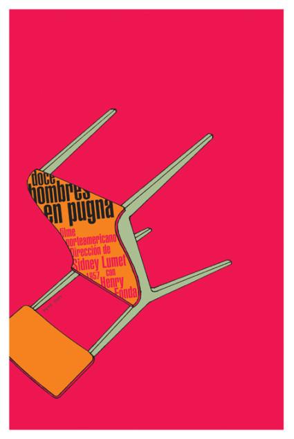 Doce hombres en pugna. 2009. Serigrafía.