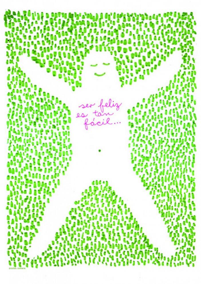Darwin Fornés Báez. Diseñador cubano. Cartel Be Happy.