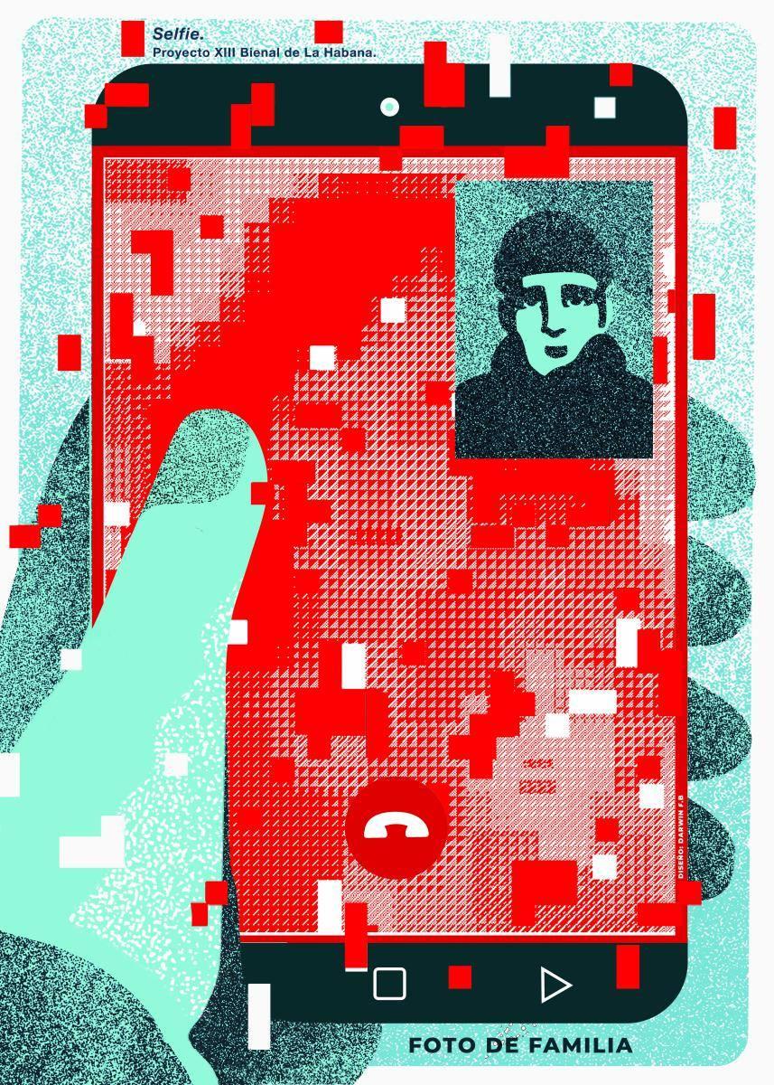 Cartel para la exposición Selfie. Darwin Fornés.