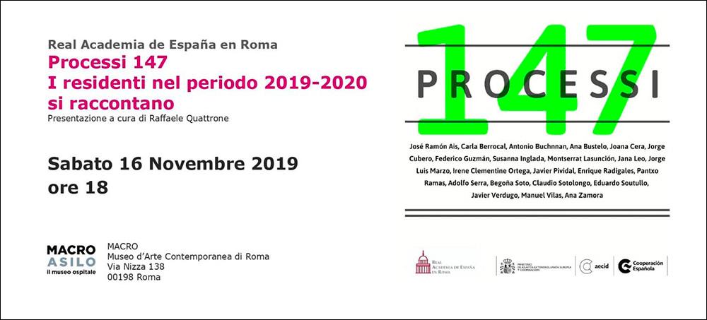 Invitacion 147 Processi. Claudio Sotolongo MACRO