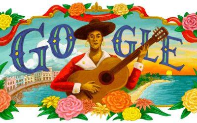 Doodle para María Teresa Vera, inspirado en la gráfica cubana del siglo XX