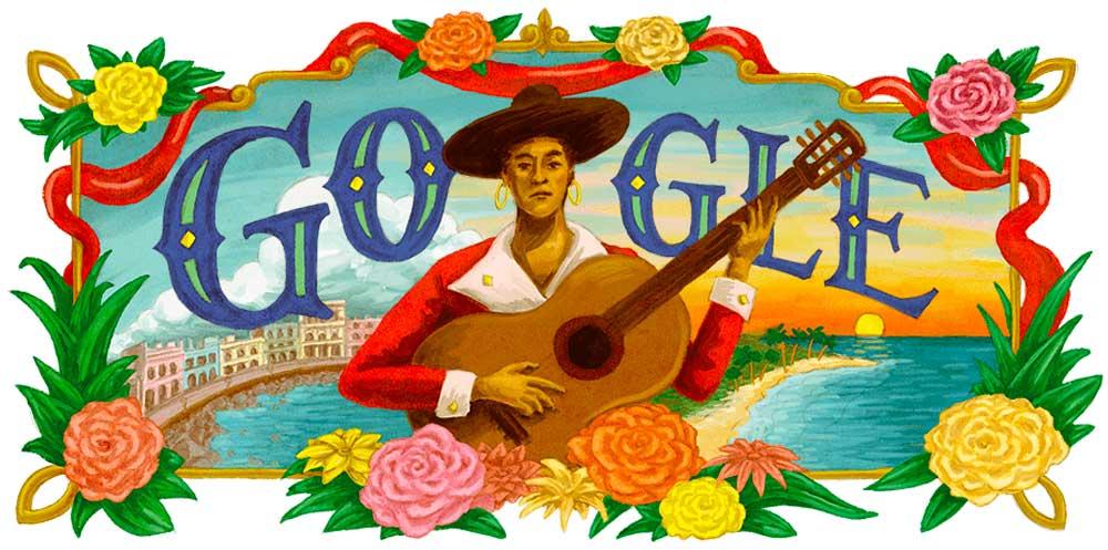 María Teresa Vera. Doodle de Google. 6 de febrero de 2020.