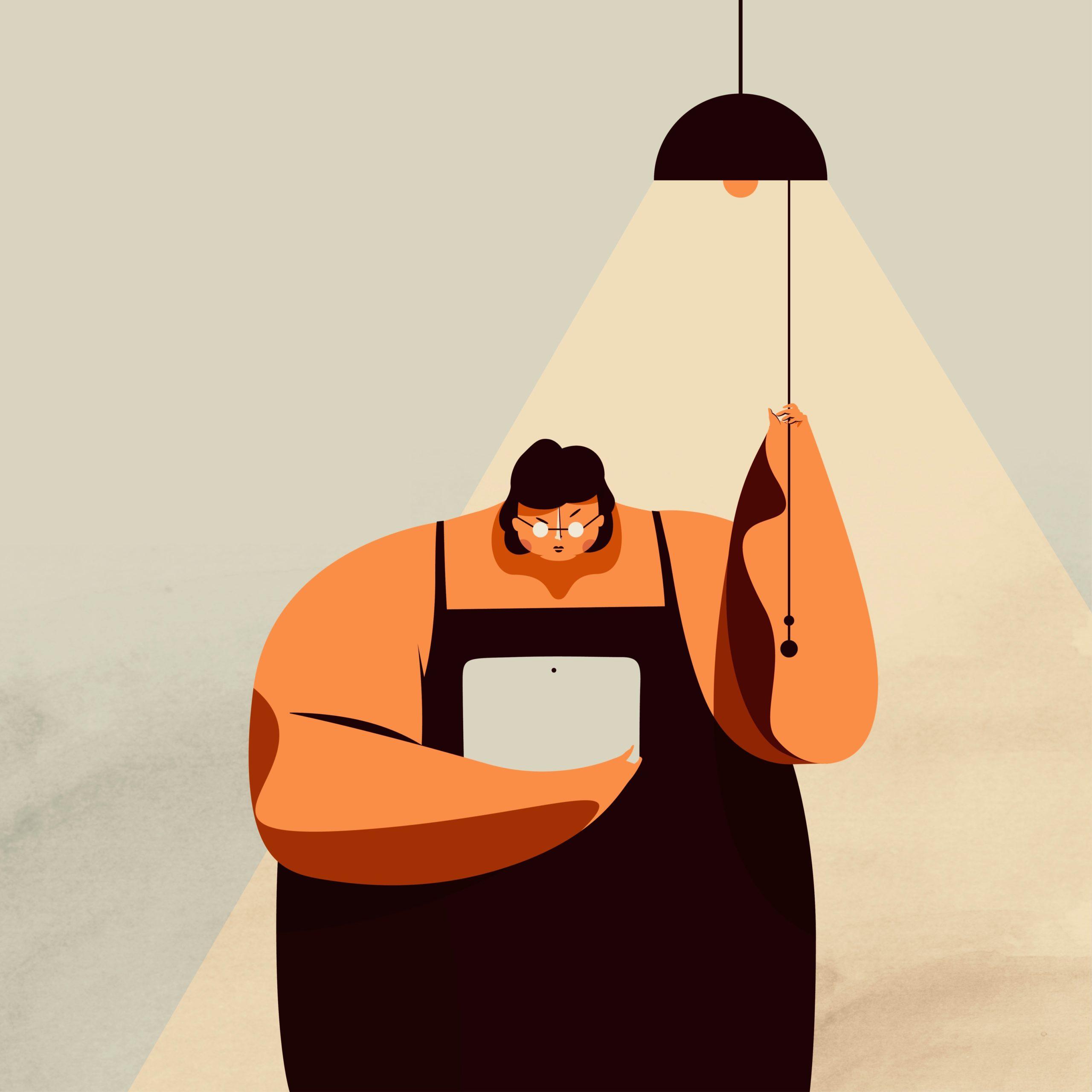 Ahorrar energía. Periodismo de Barrio. Ilustración de Monkc.