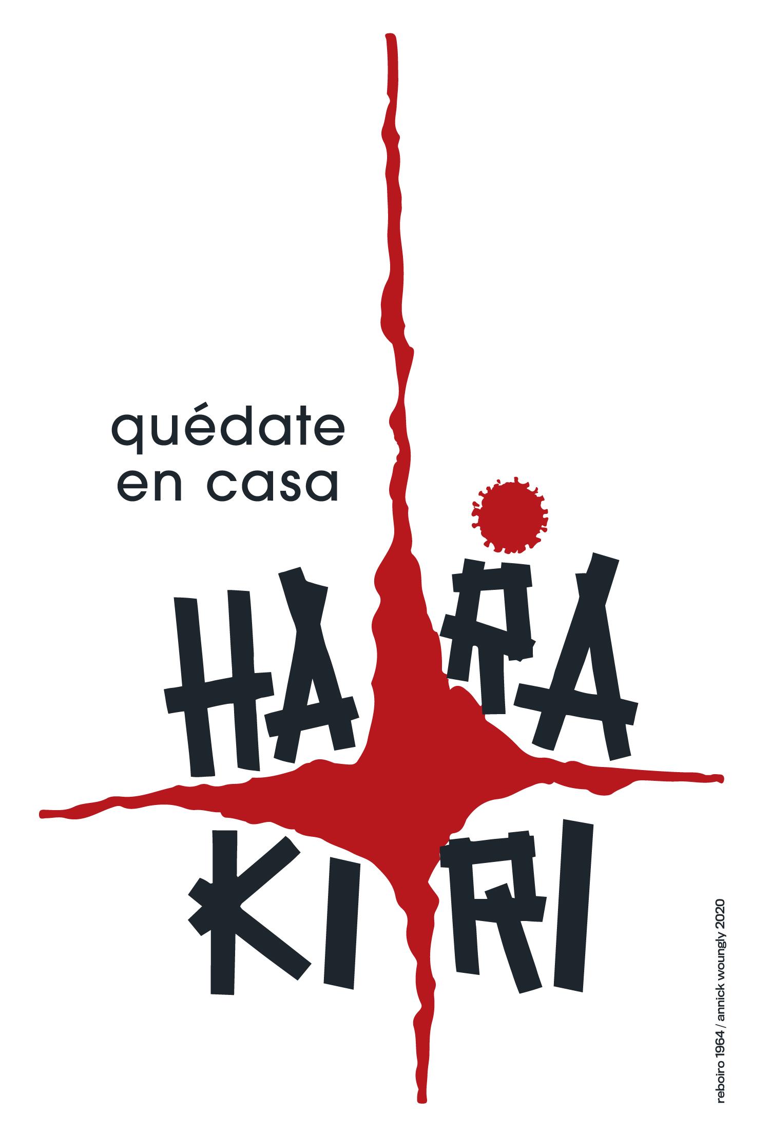 El cartel cubano en los tiempos del coronavirus. Harakiri. Reboiro 1964.