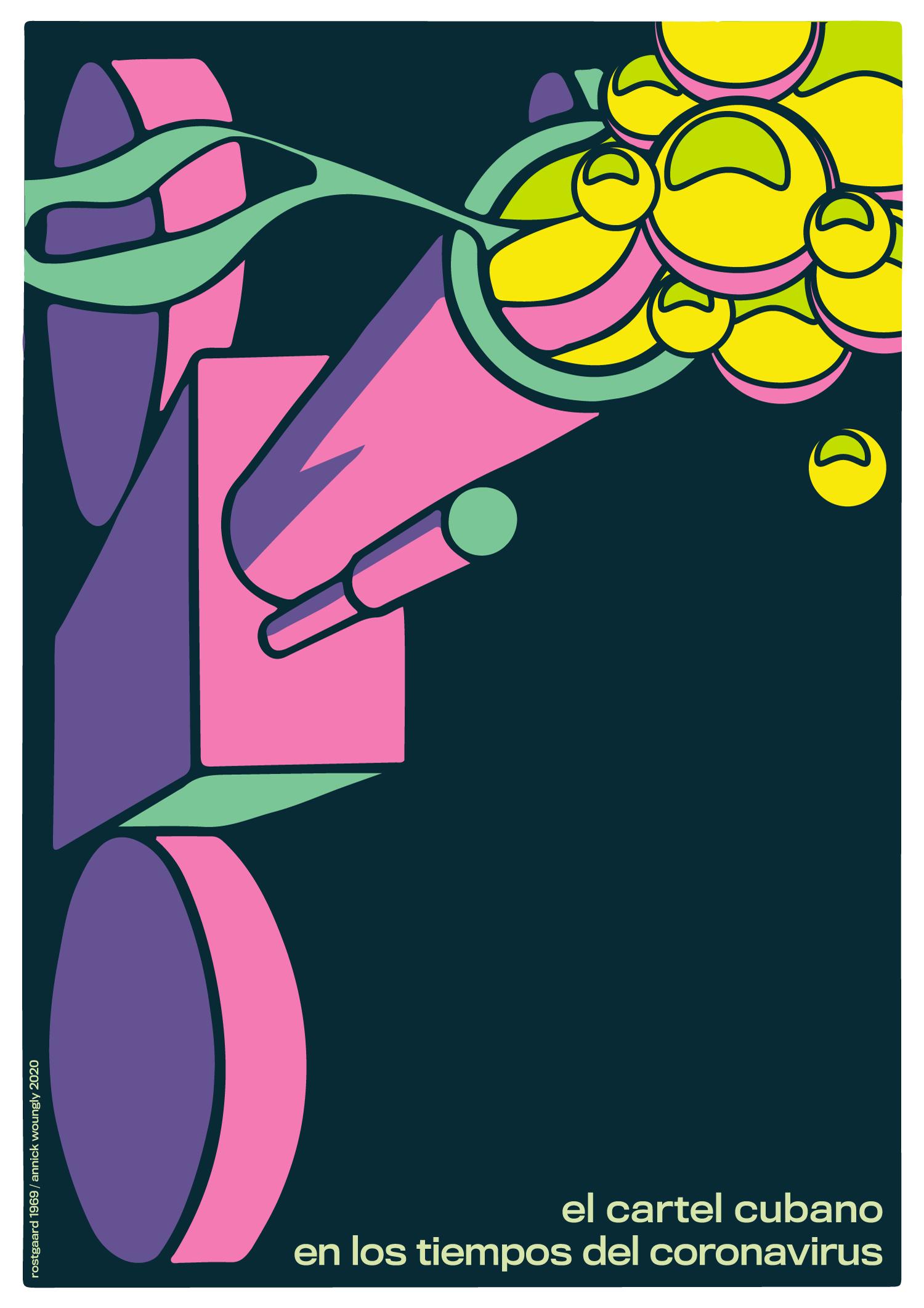 El cartel cubano en los tiempos del coronavirus. - ICAIC décimo aniversario. Rostgaard 1969.