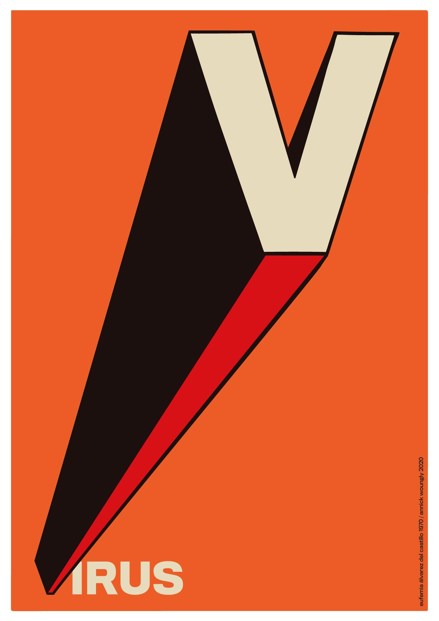 El cartel cubano en los tiempos del coronavirus. Revés. Eufemia Alvarez del Castillo 1970.