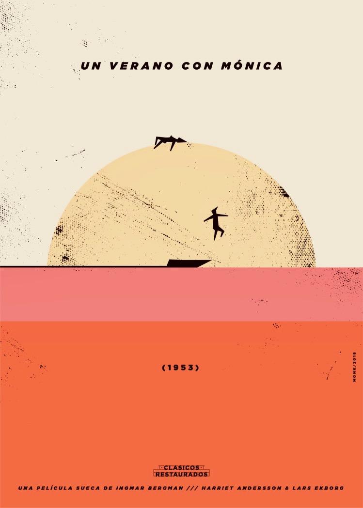 Cartel Un verano con Mónica. Ilustración de Monkc.