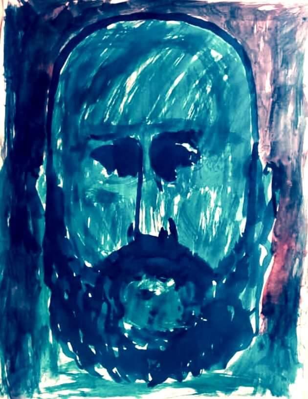 Darwin Fornés Báez. Diseñador cubano. Autorretrato.