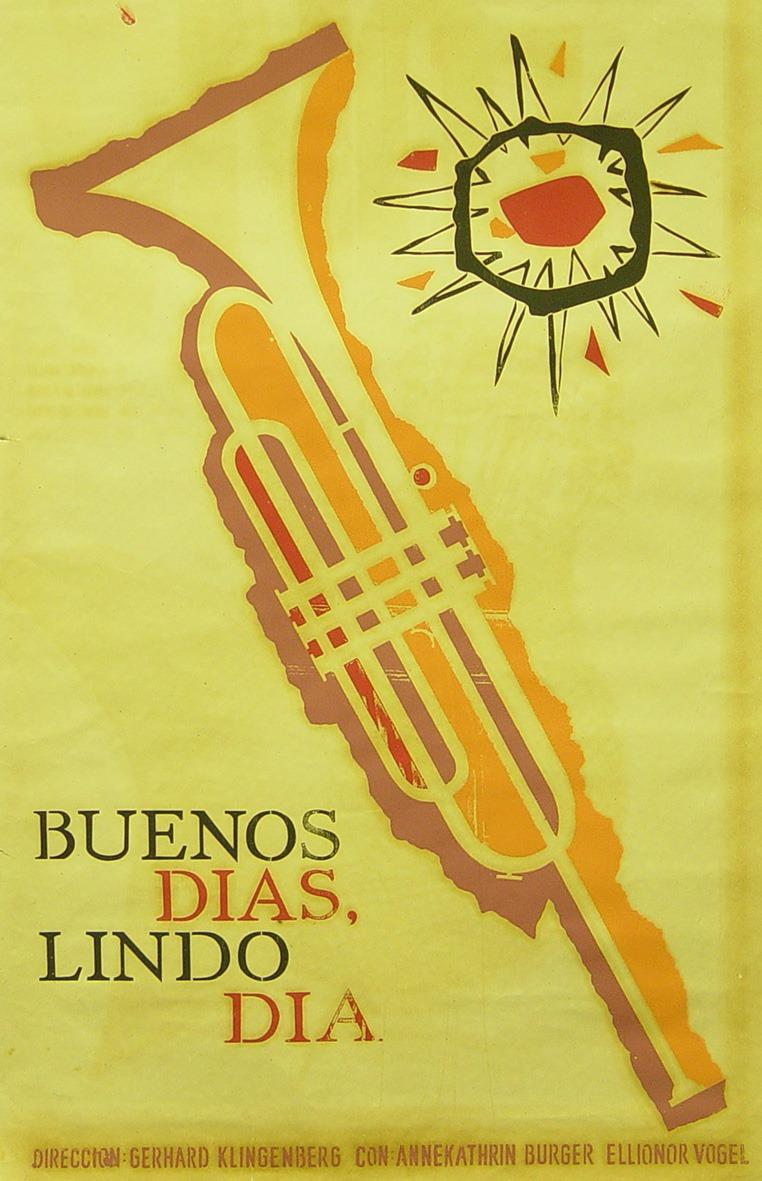 Buenos días lindo día (Icaic, Ricardo Reymena, 1963). Cartel cubano.