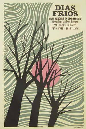 Días fríos (Icaic, Francisco Yanes Mayán, 1968). Cartel cubano.