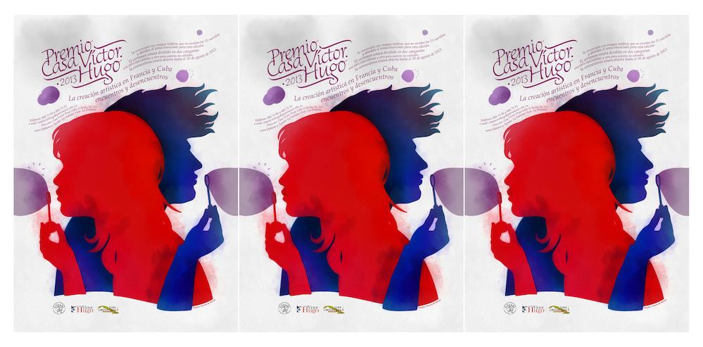 Darwin Fornés. Diseño de la campaña promocional para la Casa Víctor Hugo.