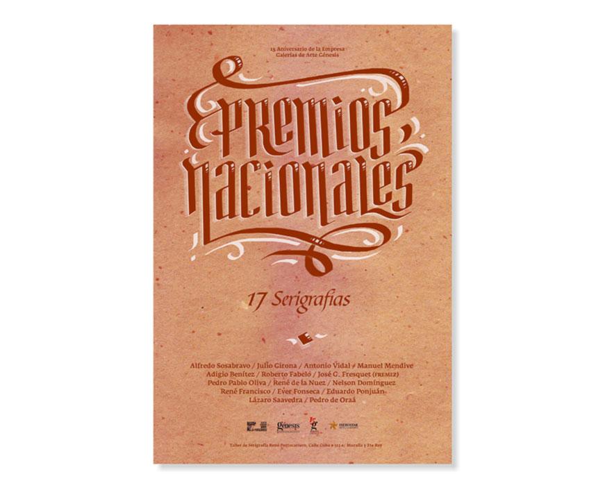 Darwin Fornés Báez. Diseñador Cubano. Lettering. Premios nacionales.