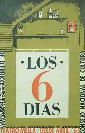 Los seis días (CNC, Carlos Manuel Díaz Gámez, 1965). Cartel cubano.
