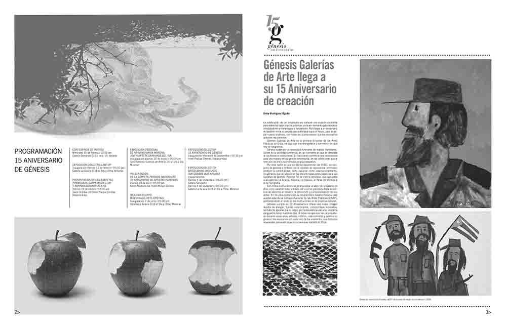 Darwin. Revista ARTECUBANO. Especial aniversario Galerías Génesis