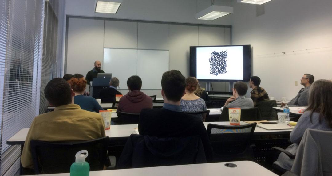 Seattle. Conferencia en la School of Visual Art. Clase de Jeff Kleinsmish.
