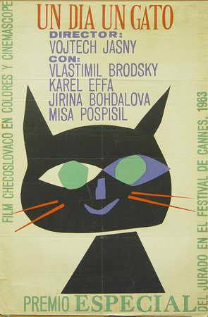 Un día un gato (Icaic , Silvio Gaytón, 1964). Cartel cubano.