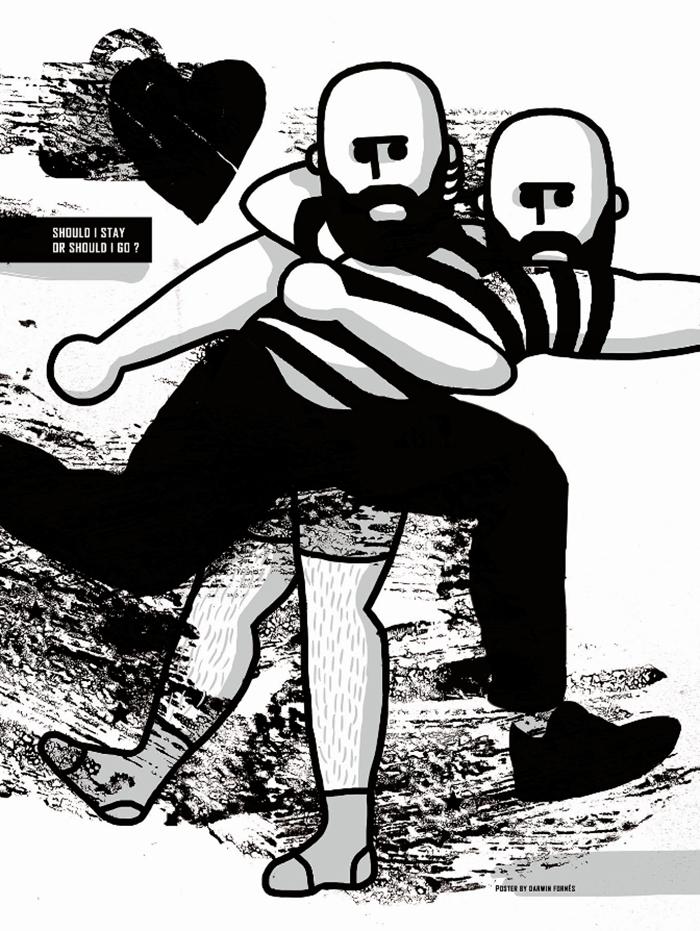 Darwin Fornés Báez. Diseñador cubano. Cartel homenaje a la la banda The Clash.