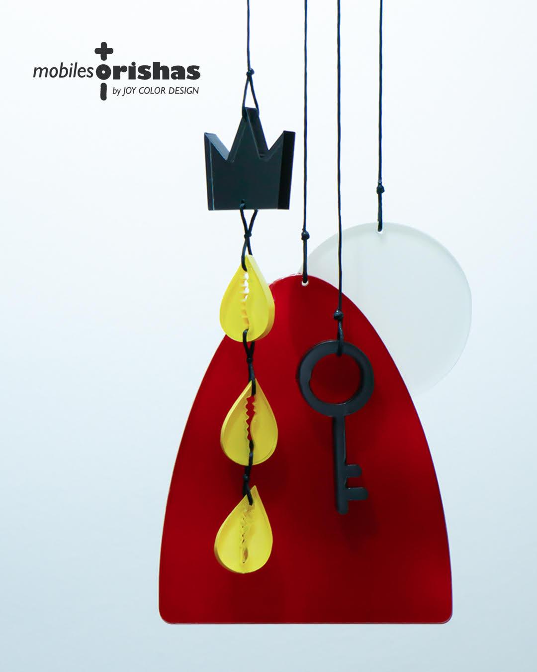 Mobiles Orishas. Nueva colección de Yamile Salomón Infante, diseñadora y creadora de Joy Color.