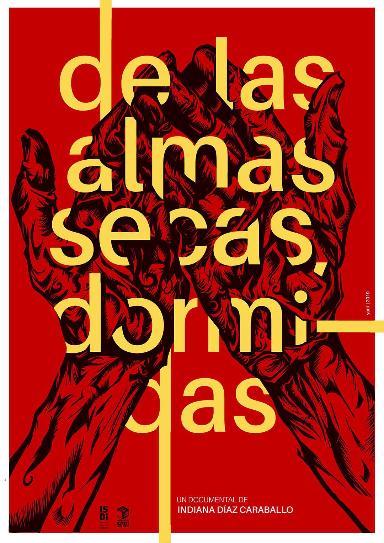Yanaisy Puentes. Diseñadora e ilustradora cubana. Cartel De las almas. Ganador de la primera mención en el concurso de cartel de la Muestra Joven 2019.