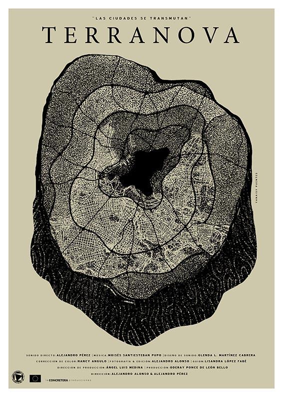 Yanaisy Puentes. Diseñadora e ilustradora cubana. Cartel para el largometraje Terranova.