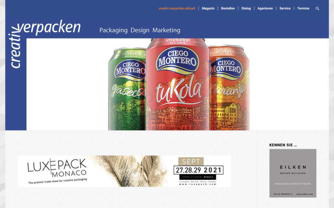 Nuestro artículo sobre el papel de los envases en Cuba publicado en la prestigiosa revista alemana Creativ Verpacken