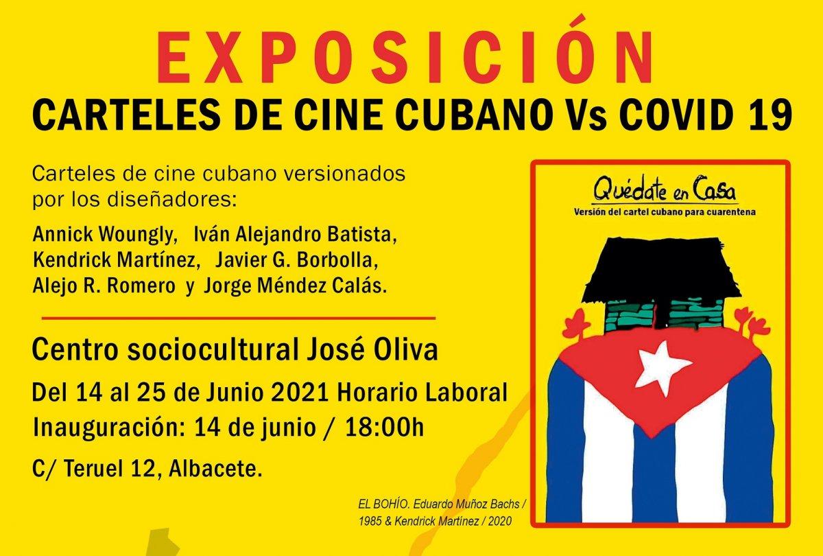 Exposición Carteles cubanos vs Covid-19 en Albacete.