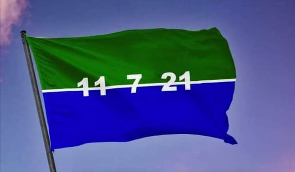 Banderas del 11J. Cuba. 2021.
