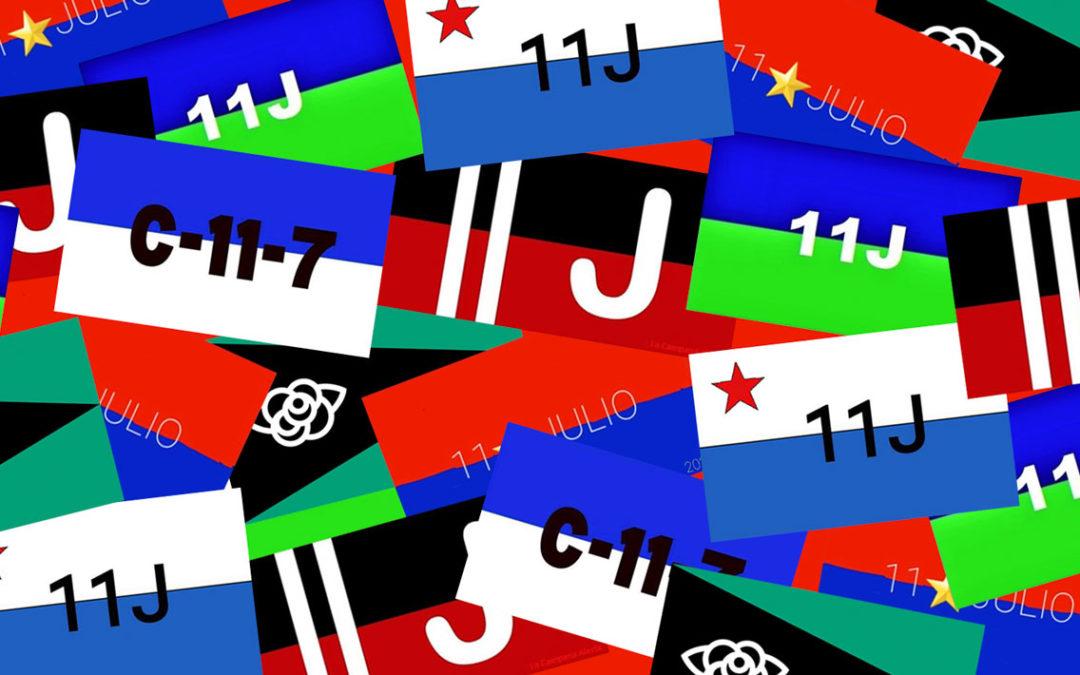 Las banderas del 11 de Julio
